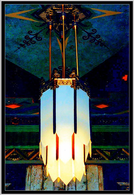 Pantages Theatre Hollywood ~ Deco Light Fixture in the Lobby