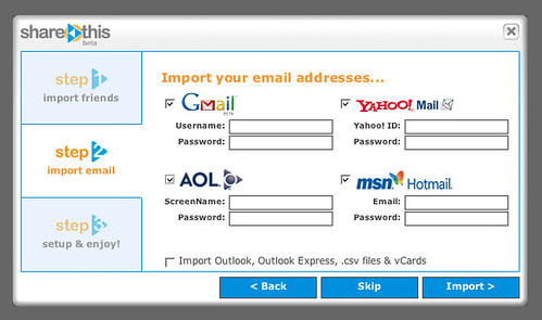 ShareThis | Import your addresses... | by factoryjoe