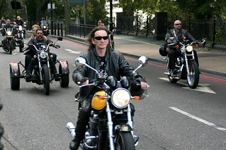 "Hell's Angels' ""Gentleman Gerry"" Funeral Cortege Goes Through London 