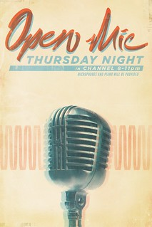 open mic poster | by christopher Paul