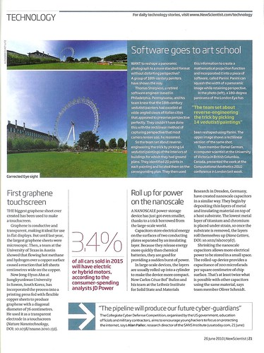 New Scientist 26th June 2010 p21 | by Bruno Postle