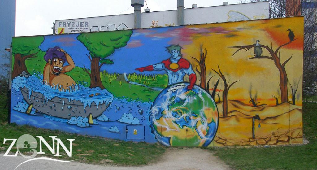Save The Water Graffiti Wall 45 M2 Zenn 2010 Artykul Flickr
