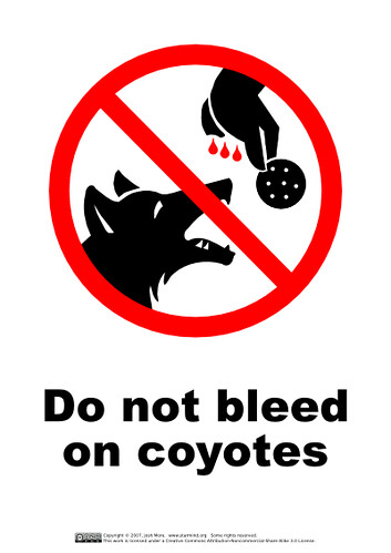 do_not_bleed_on_coyotes | by guppiecat