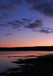 Crescent Moon Sunset, Yellowstone Lake | by Fort Photo