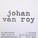 crox 50 johan van roy<br /> objecten / objects<br /> 14 september - 6 oktober 1996 </p> <p>croxhapo Gent Ghent Belgium<br />