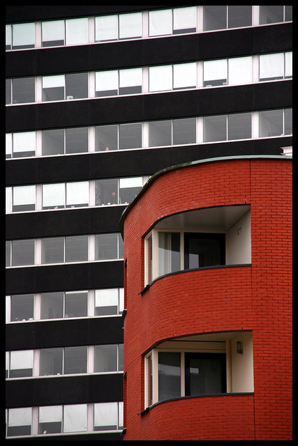 Two types of modern buildings