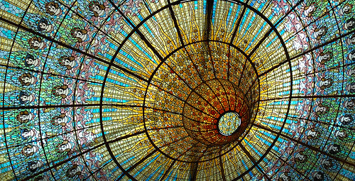 Stained Glass Ceiling: Palau de la Música Catalana in Barcelona | by Carlos Lorenzo