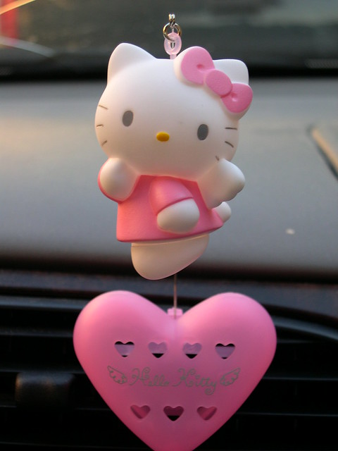 Hello Kitty car air freshener