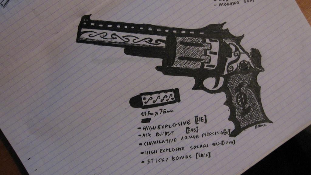 Custom Revolver | 2-round (Borderlands style) cylinder on-le… | Flickr