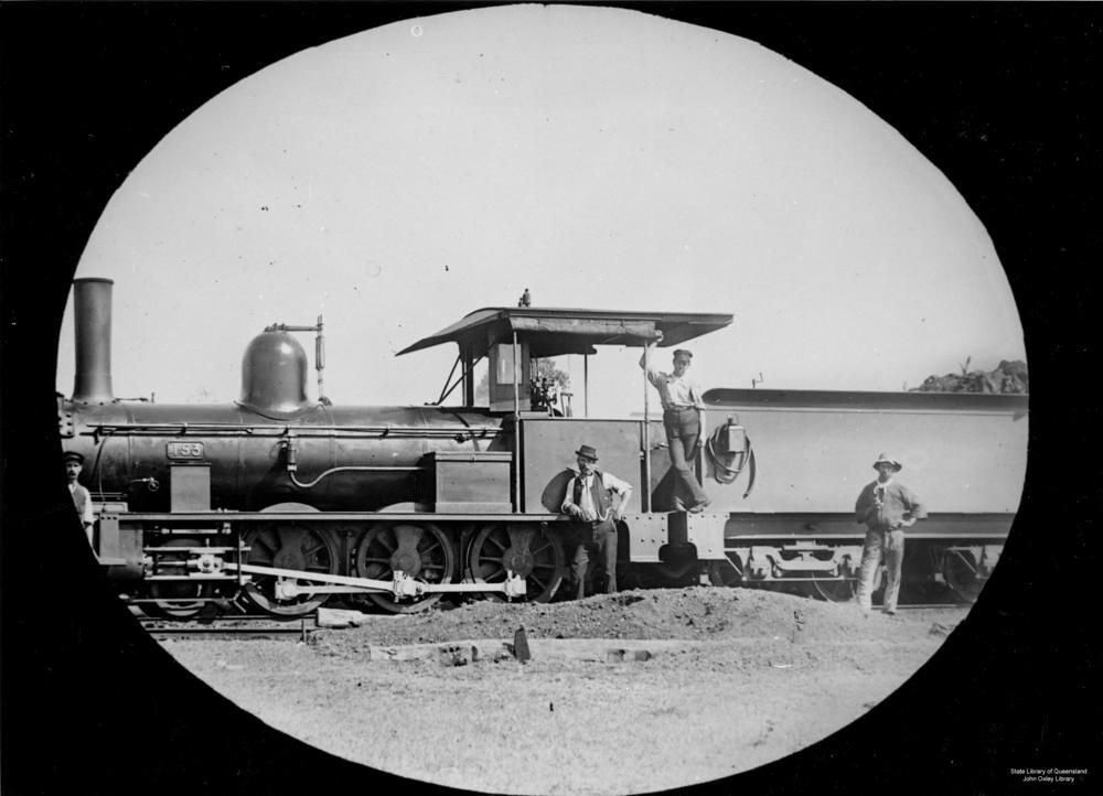 Locomotive at Emerald, Queensland, ca  1905   Photographer