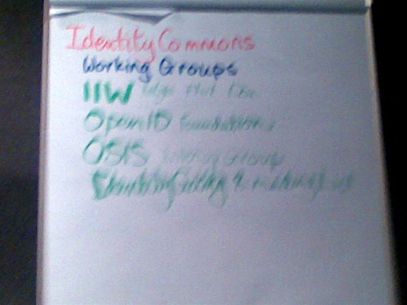 Identity Commons Groups