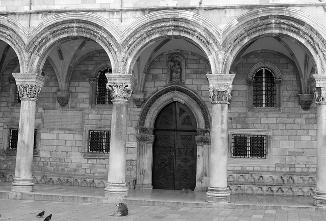 Crooked shot of the Rector's Palace