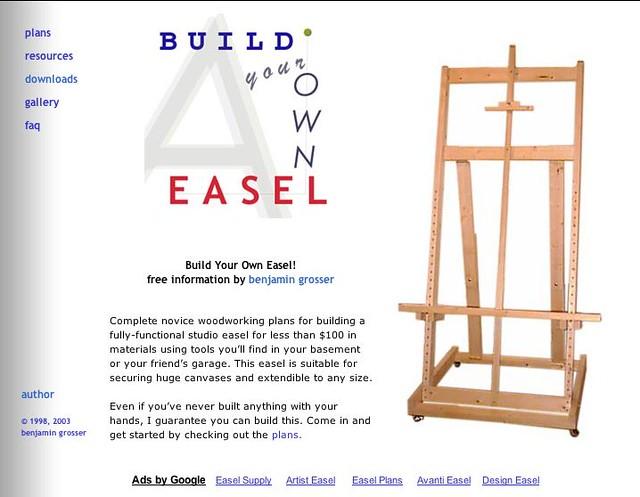 Build Your Own Easel Blogschmlog Blogspot Com Ujwala