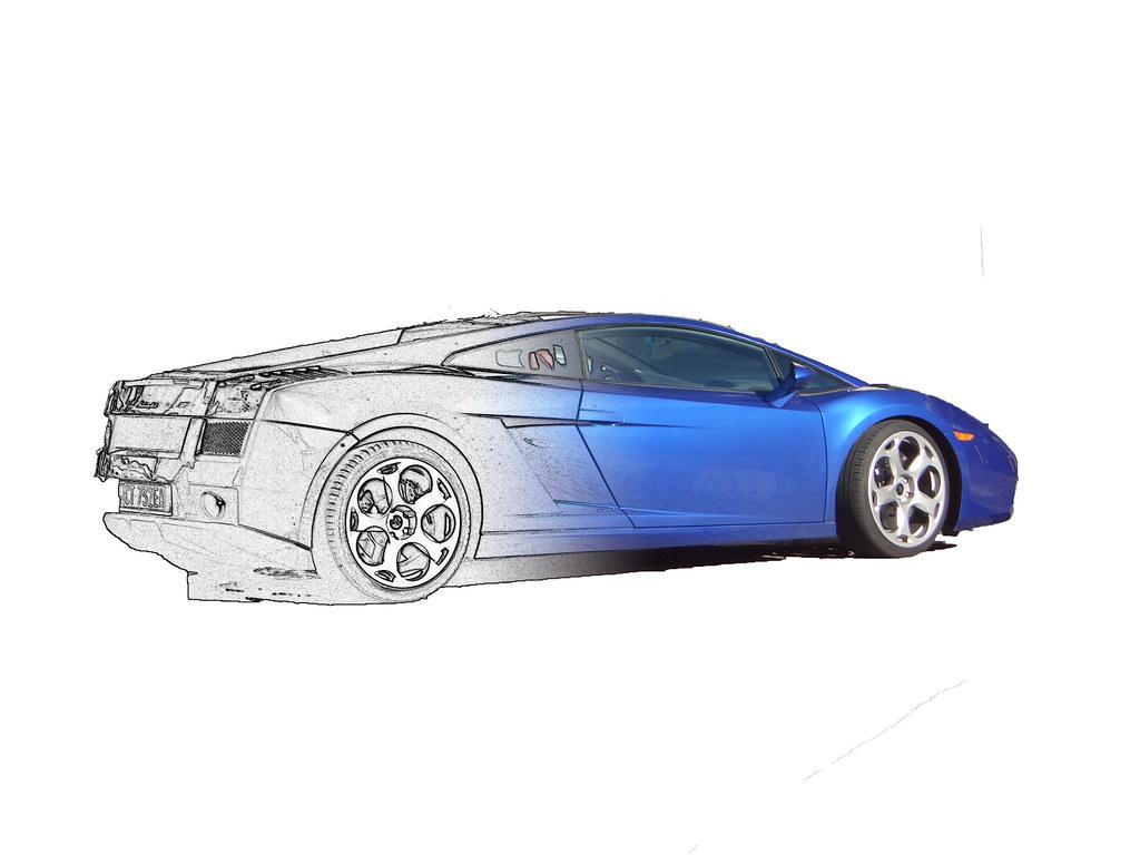 Lamborghini Sketch A Picture I Took Of A Lamborghini Parke Flickr