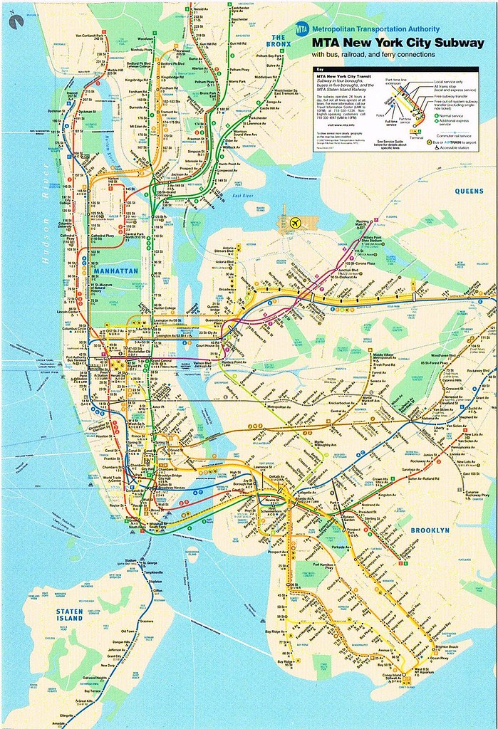 Subway Map For New York City.New York City Subway Metro Map Postcard 2007 Kotarana Flickr
