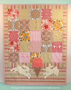 jeni's ice cream quilt—specially created for their baby girl