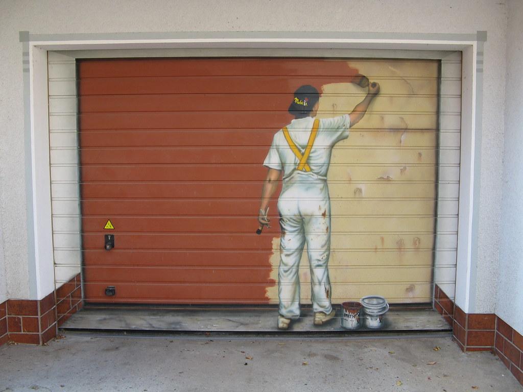 Img 0442 Jpg Painted Garage Door Otzberg Flickr