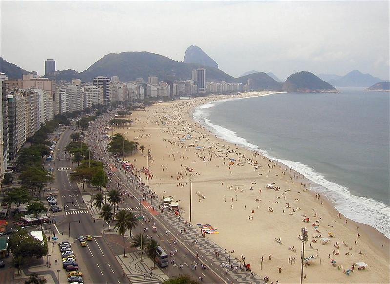Copacabana beach looking left
