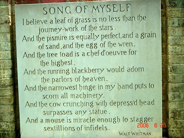 Walt Whitman Poem Song Of Myself Amybami Flickr