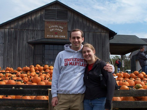 Leslie and Jeremiah. And a bunch of pumpkins.