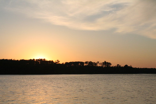 sunset lake minnesota clouds grandrapids