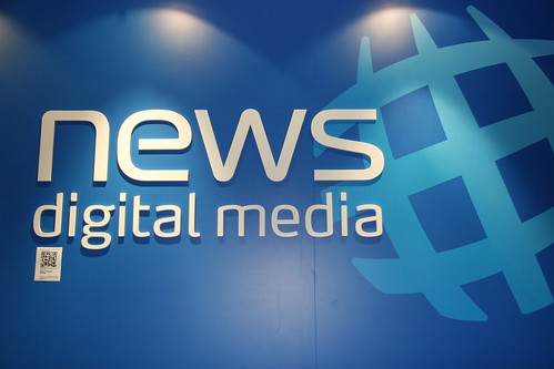 The News Digital Media logo with attached Semapedia code | by Charlie Brewer