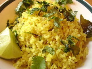 Poha (Fried flattened rice)
