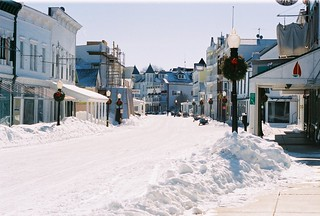 Downtown Winter Day Mackinac Island | by Mary McGuire | Mackinac Design