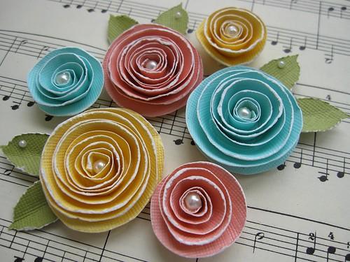Spiral Rose Flower Embellishments | by vsroses.com