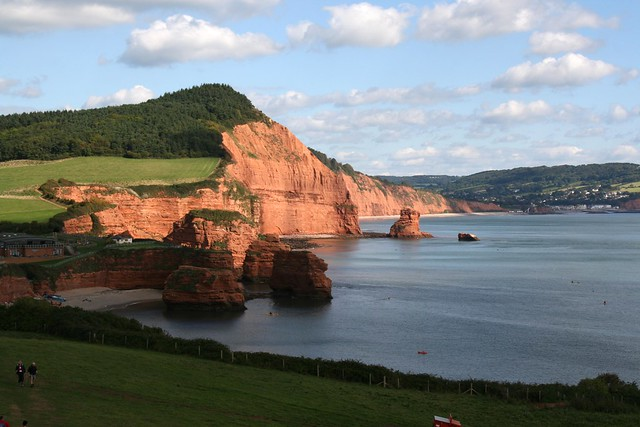 The coast between Budleigh Salterton and Ladram Bay