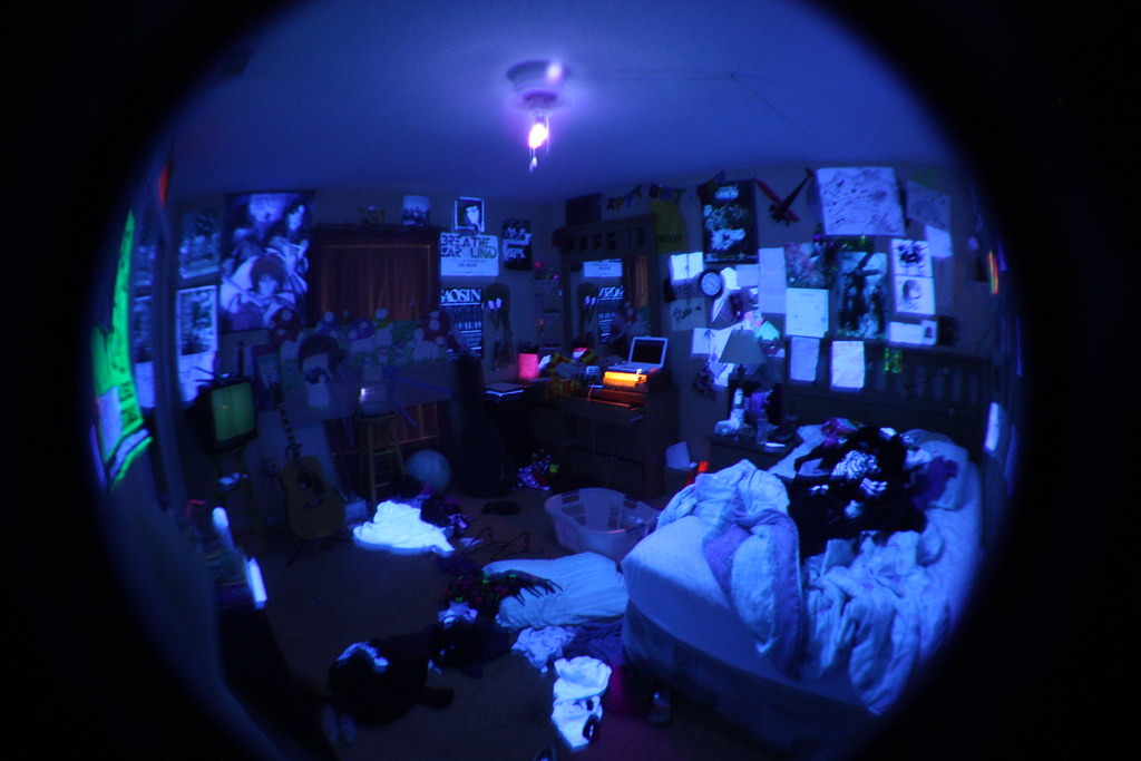 Blacklight Bedroom | Ghost Kids | Flickr