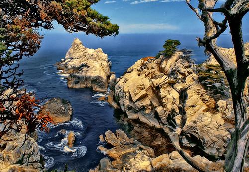 ocean california painterly texture photoshop coast painted canvas pointlobos diffuse redroomstudios