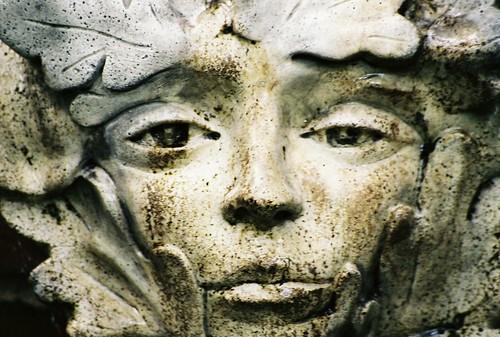 face statue stone 2006 towerhill woodnymph