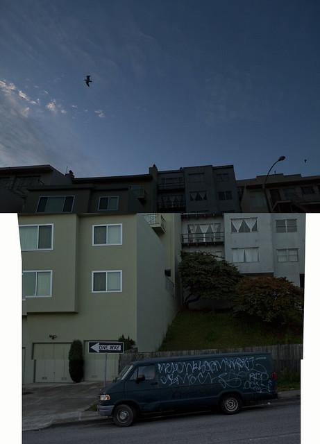 vandalized van.   Anza Vista / Laurel Heights; San Francisco (2010)