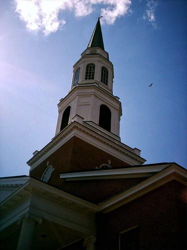 light sky cloud bird church dark angle fb steeple baptist fav portfolio 50views marshalltexas me2007