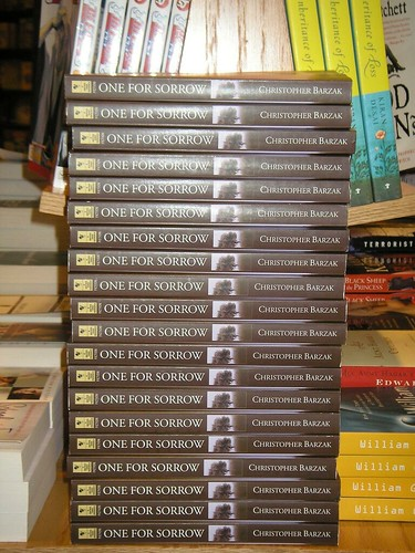 Stacks of OfS at Local B&N | by Christopher Barzak