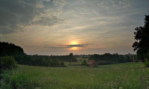 Abendlicht im Farrnbachtal by Dirk Paessler