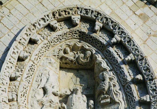 Poitiers, Collégiale Notre-Dame-la-Grande, exterior