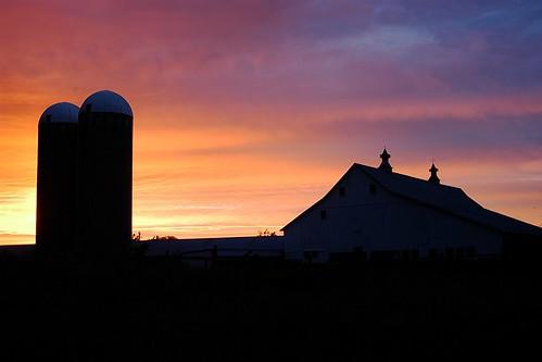 sunset barn nebraska silo mattsteinhausen
