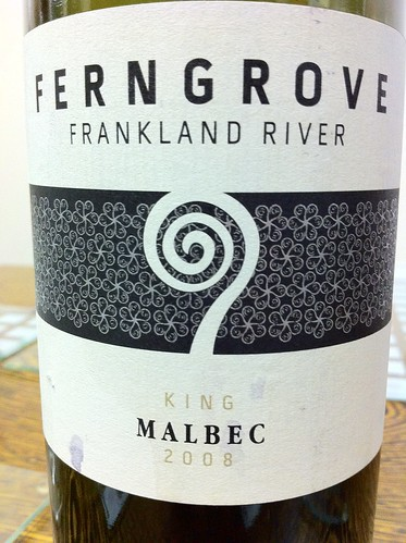 Now having what little is left of the Ferngrove Frankland River Malbec, 2009. Herbal. | by GrahamMcCannCAM