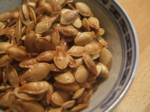 Toasted pumpkin seeds | by WordRidden