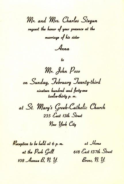 baba  u0026 dido u0026 39 s wedding invitation