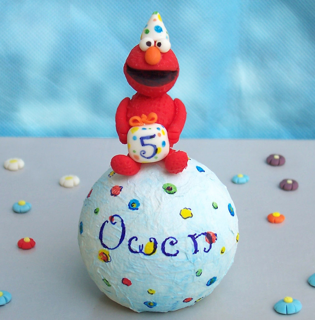 Elmo Birthday Cake Topper Personalized Handmade Funny C