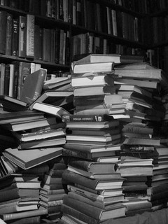 books in a stack (a stack of books) | by austinevan