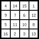 4x4 magic square   4x4 magic square www magic-square-museum