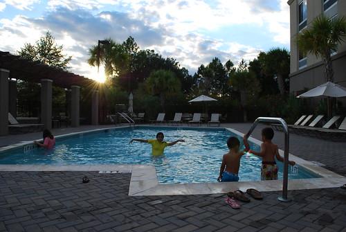sunset pool kids hotel florida jacksonville