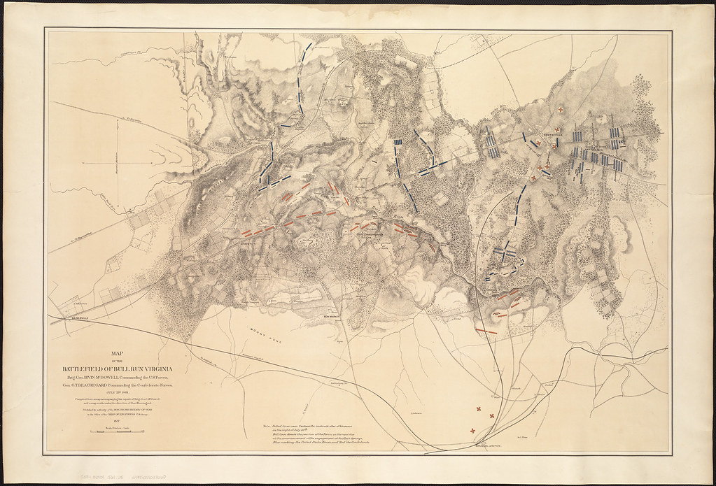 Map of the battlefield of Bull Run, Virginia. Brig. Gen. I ...