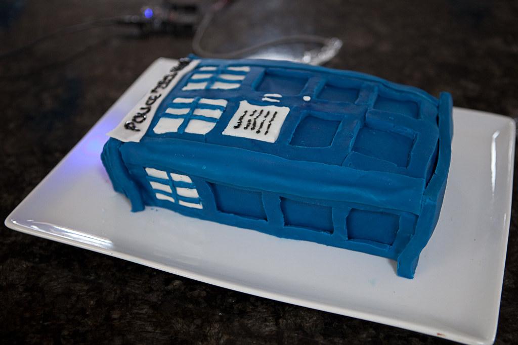 Fine Tardis Birthday Cake Tardis Birthday Cake A Labour Of Lo Flickr Funny Birthday Cards Online Inifodamsfinfo