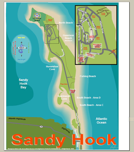 Sandy Hook map | Caren Weiner Campbell | Flickr on newtown conn map, watertown map, fairfield map, avalon map, jacob riis park map, beach haven map, westport map, white plains map, prospect map, cherry hill map, long branch map, newtown connecticut map, albany map, essex map, new castle map, bloomfield college map, milford map, tuckerton seaport map, roxbury map, woodstock map,