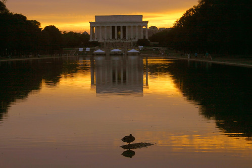 sunset reflection water topv111 duck dc washington districtofcolumbia topc50 topc75 topc100 lincoln lincolnmemorial 2007 eow abigfave impressedbeauty superhearts platinumheartaward
